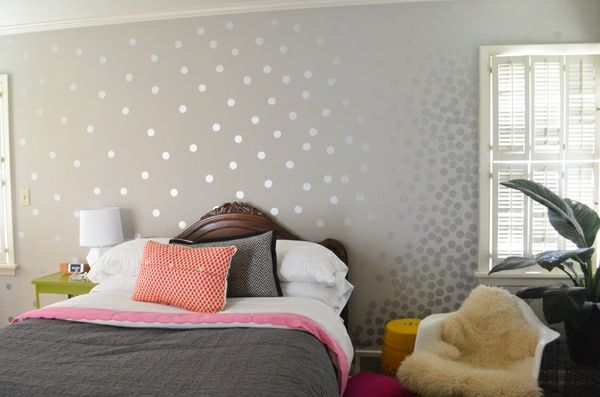 wandfarbe bettwsche metalleffekt wandgestaltung farbe bett - Wandgestaltung Farbe