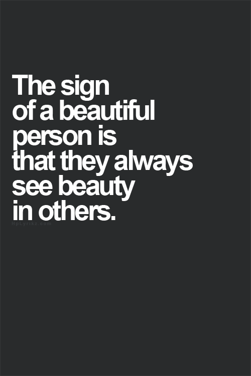 Amen Quote Of What It Means To Be A Beautiful Person Little