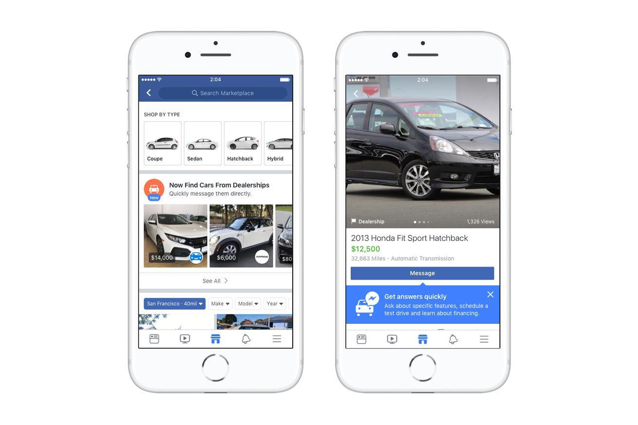 Facebook Partners With Dealership Sites To Make Car Buying Easier