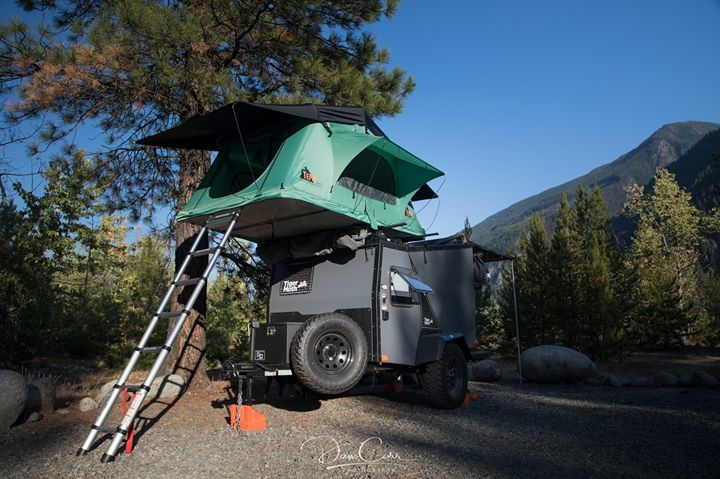 Taxa Tigermoth Trailer With Tepui Rooftop Tent Camping