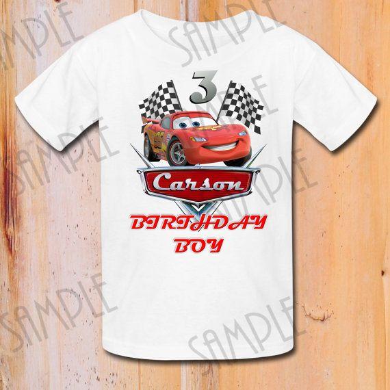 T Shirt Disney Cars Diy Custom Iron On By