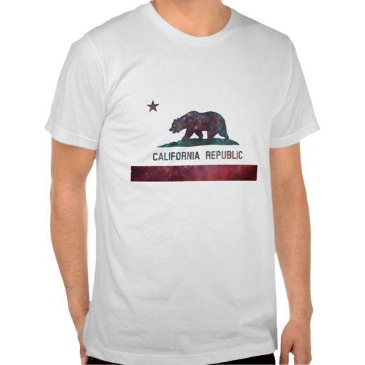 California Flag Nebula T Shirts