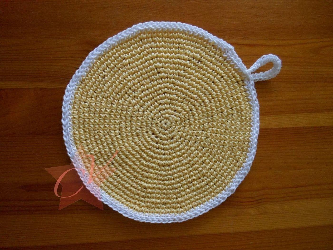 Round Crochet Pot Holder Tutorial Crochet Pinterest