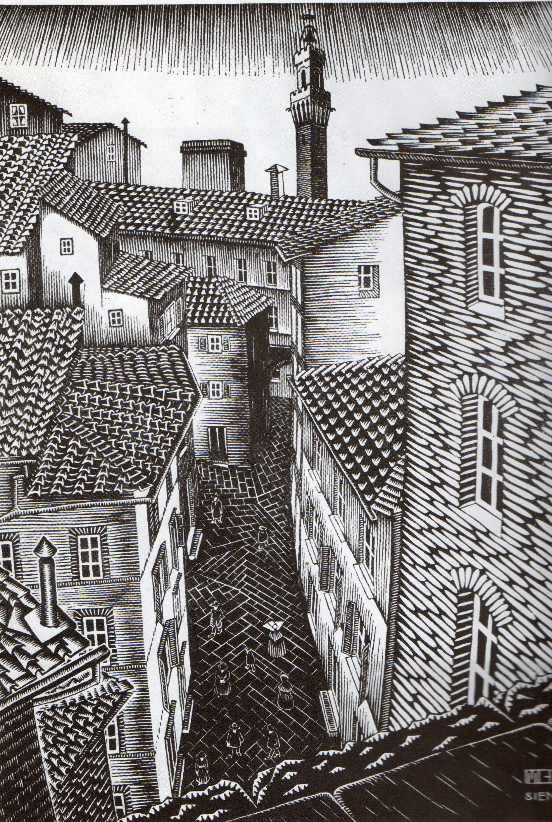mc escher Ascending and descending is a lithograph print by the dutch artist m c escher first printed in march 1960 the original print measures 14 in × 11 1 ⁄ 4 in (356.
