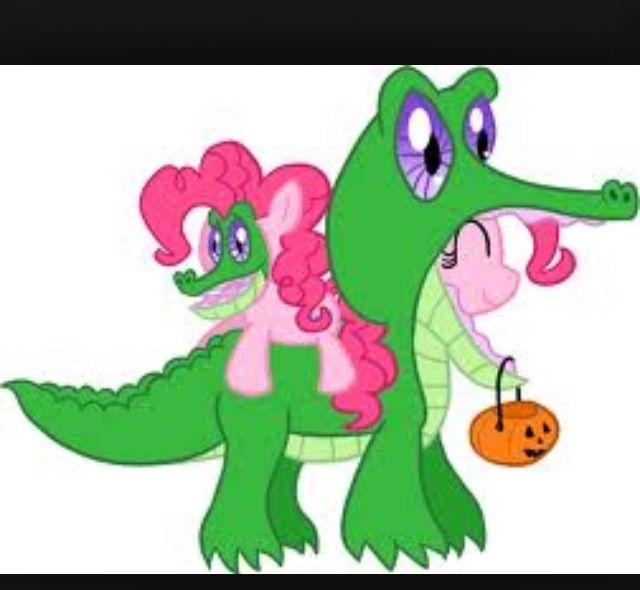 Pinkie Pie Dressed As Gummy And Gummy Dressed As Pinkie Pie D