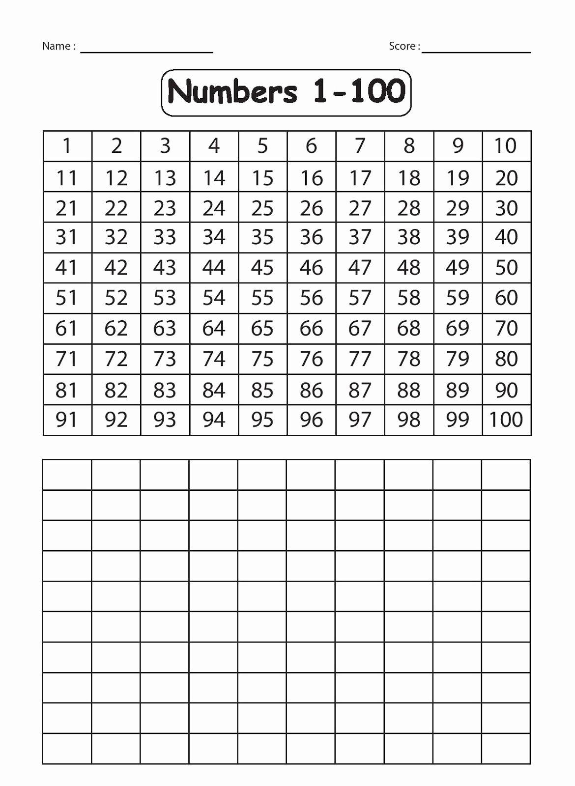 Numbers 1 50 Worksheet For Kindergarten