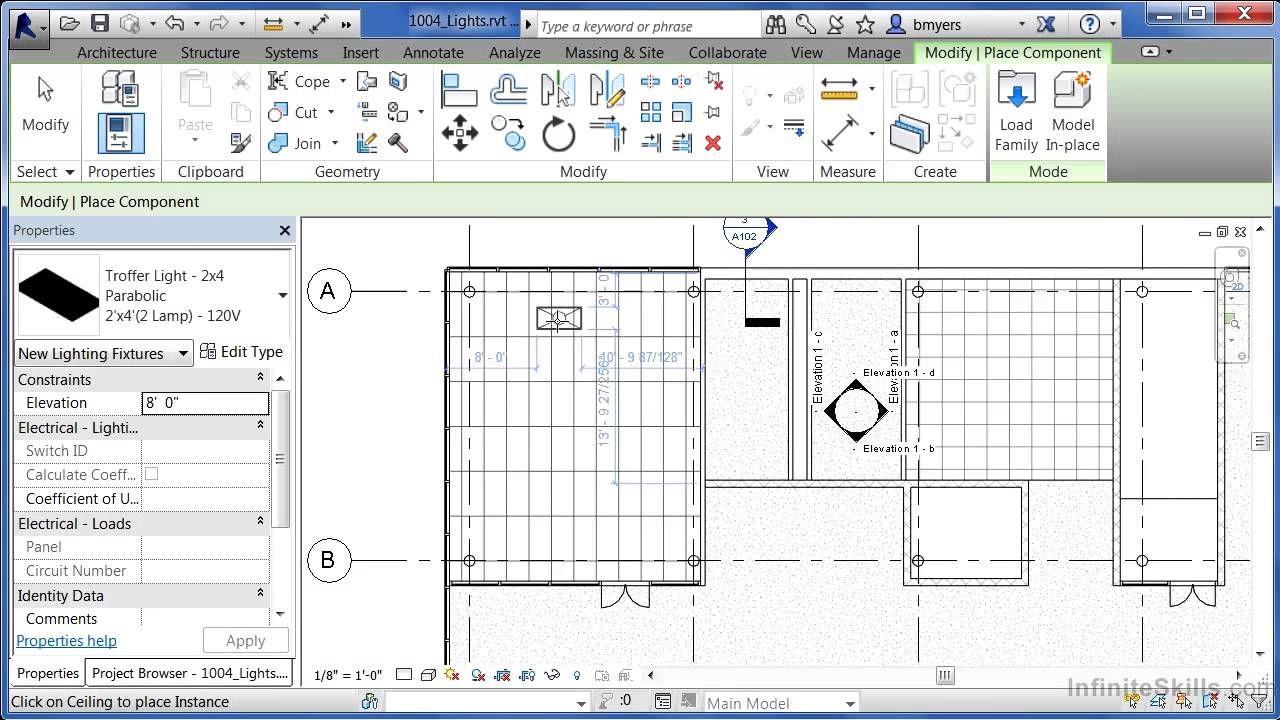 Autodesk Revit Architecture 2014 Tutorial Lights Revit