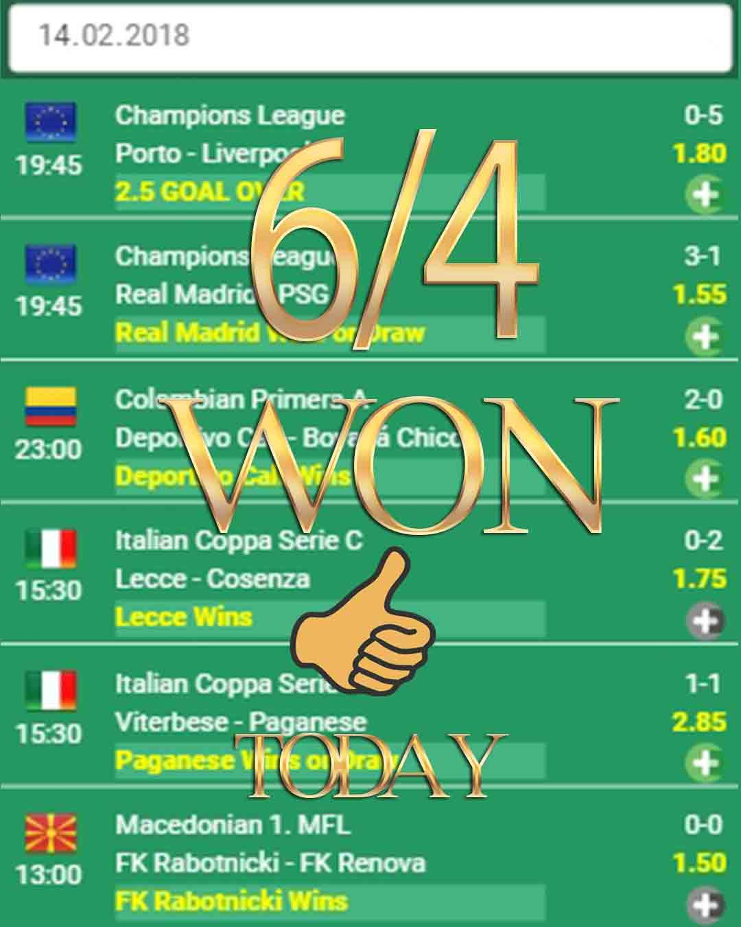 Free betting tips for today