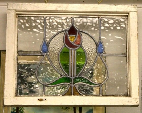 Vintage Stained Glass Window Antique Stained Glass Windows Stained Glass Diy Stained Glass Flowers