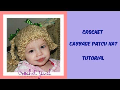 Crochet Cabbage Patch Hats Pattern Cabbage Patch Hat Hat Crochet