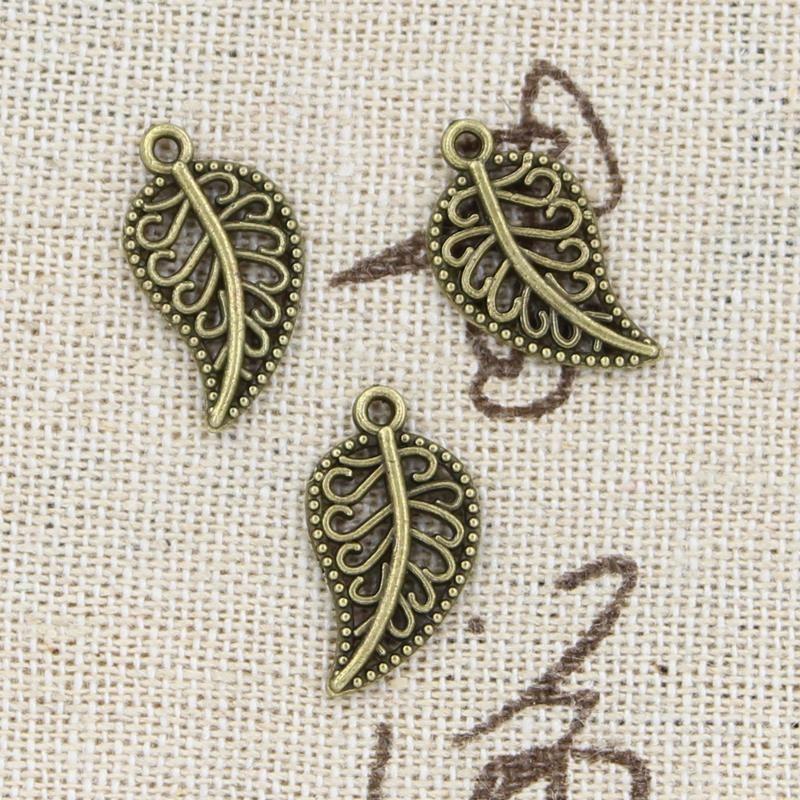 99 cents 15 pz charms albero foglia 18*10mm antico che fanno del pendente fit, vintage tibetano bronzo, diy del braccialetto della collana