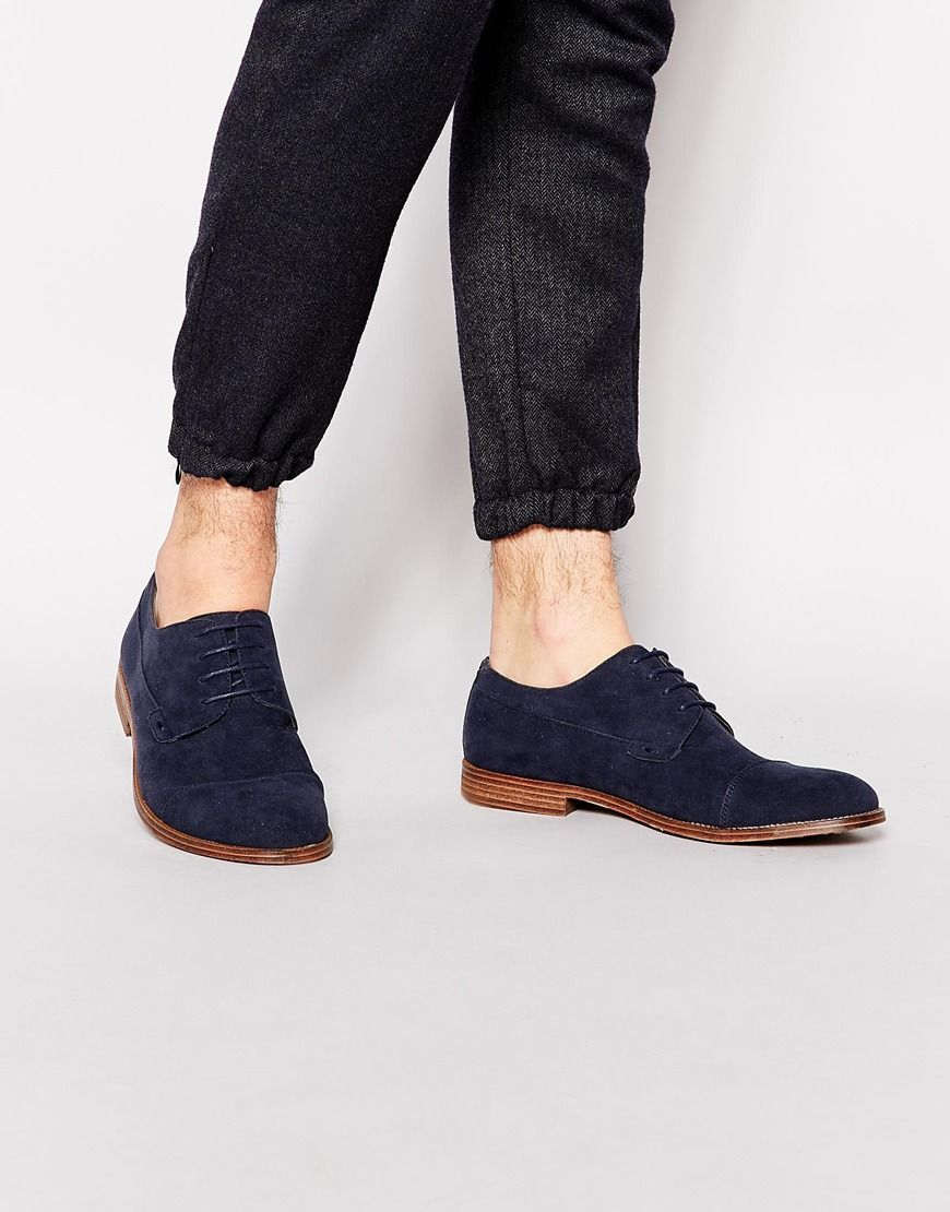 New Look Derby Shoes in Faux Suede