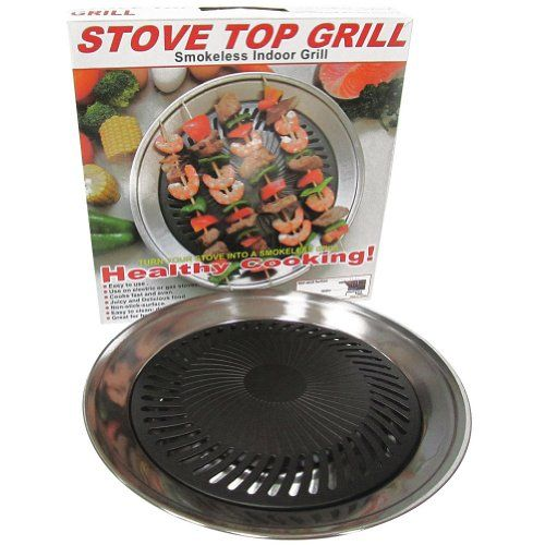 Smokeless Indoor Stove Top Grill Pan - Healthy Home Cooking Kitchen