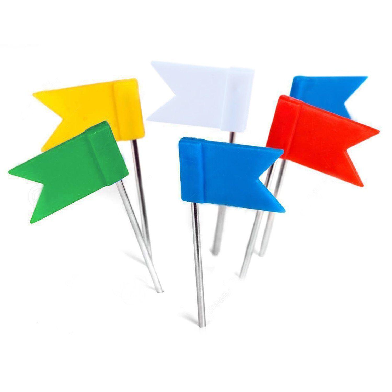 Amazon Com 50 Pieces Per Box Homework2 Map Flag Push Pins Assorted 5 Unique Flags Pin Map Cork Board Map