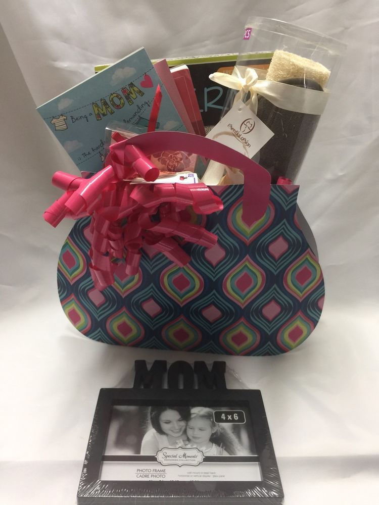 Mothers Day Gift Basket With Mom Photo Frame 4 X 6 Size
