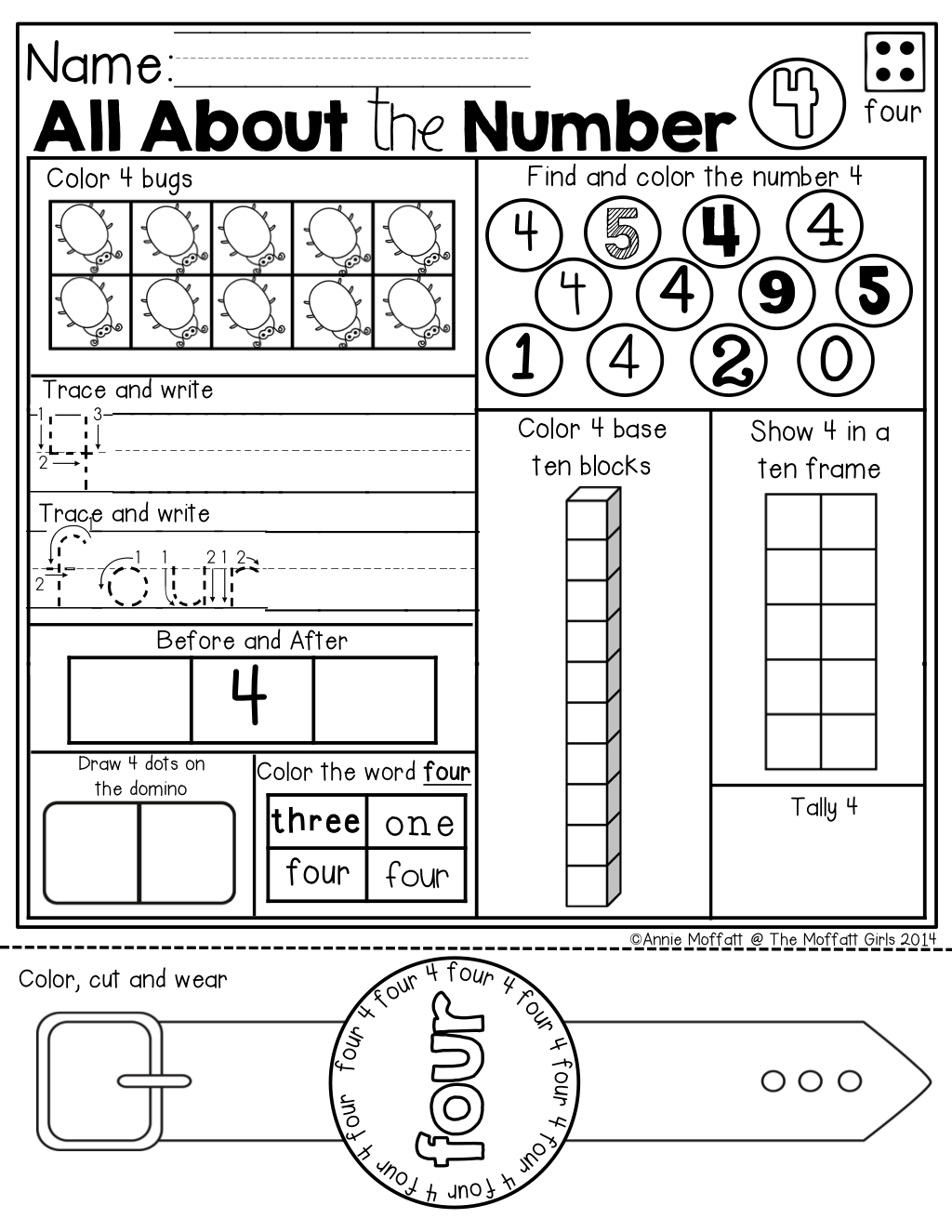 Numbers 1-20 NO PREP (with Number Word Watches