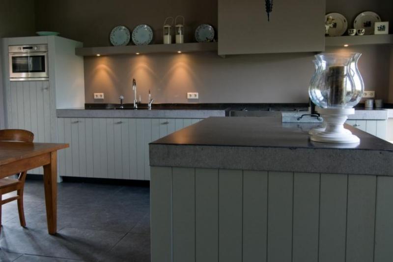 Houten planken keuken heerlijk realistisch houten fotolijst