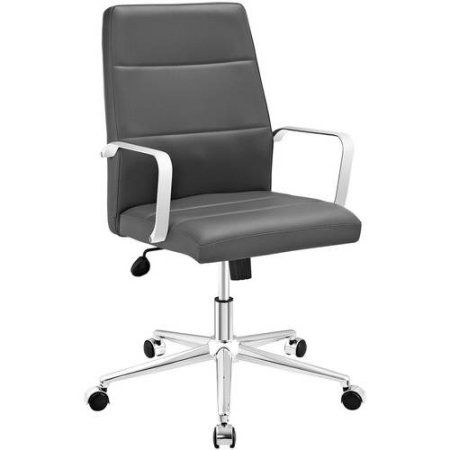 modway stride mid back office chair multiple colors gray