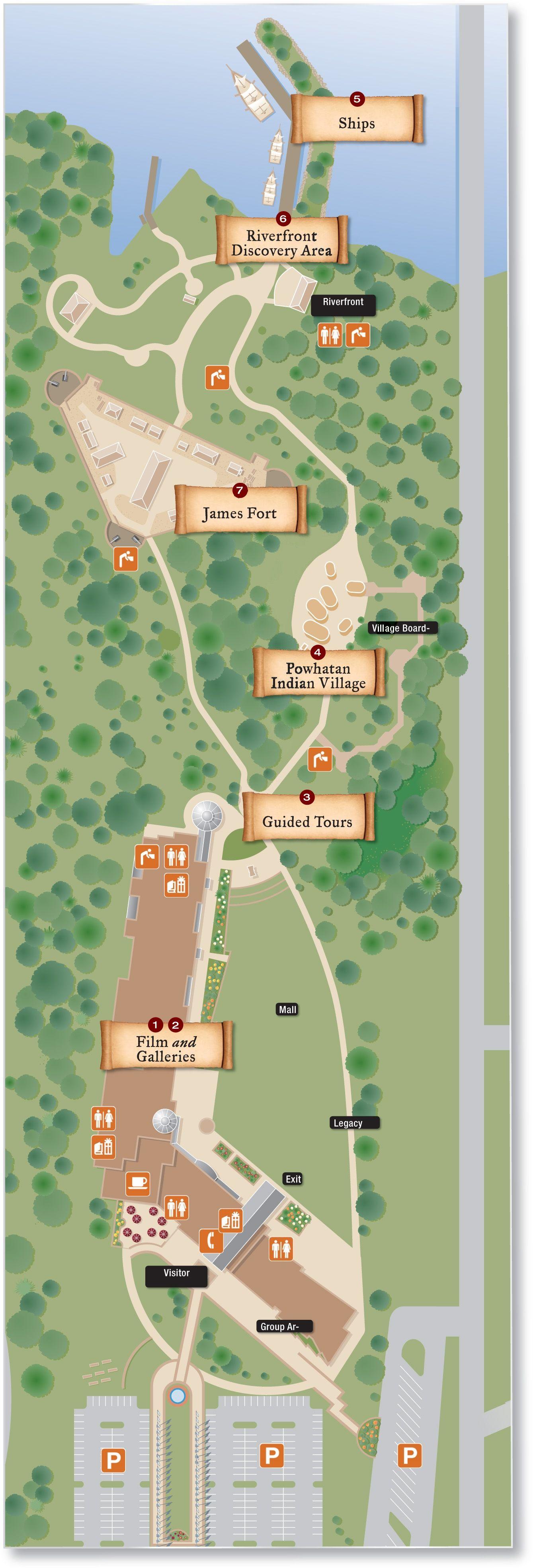 Interactive Map Usa Road Trip%0A Road trips    MAP  Jamestown Settlment aerial sitemap
