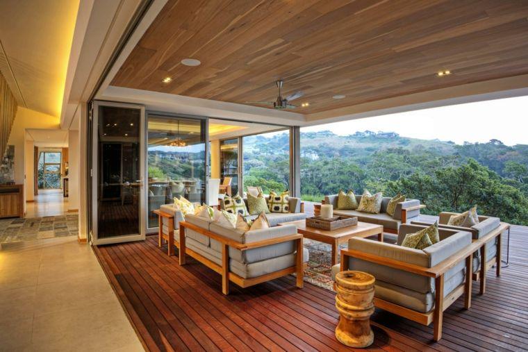Porches de obra modernos y terrazas cubiertas con estilo Porches