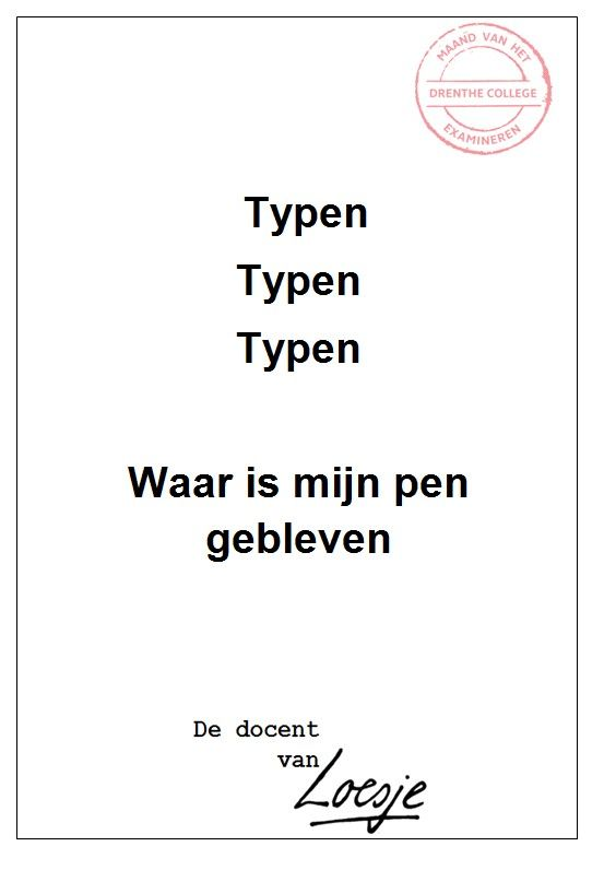 Typen typen typen - Debby Matser - Drenthe College