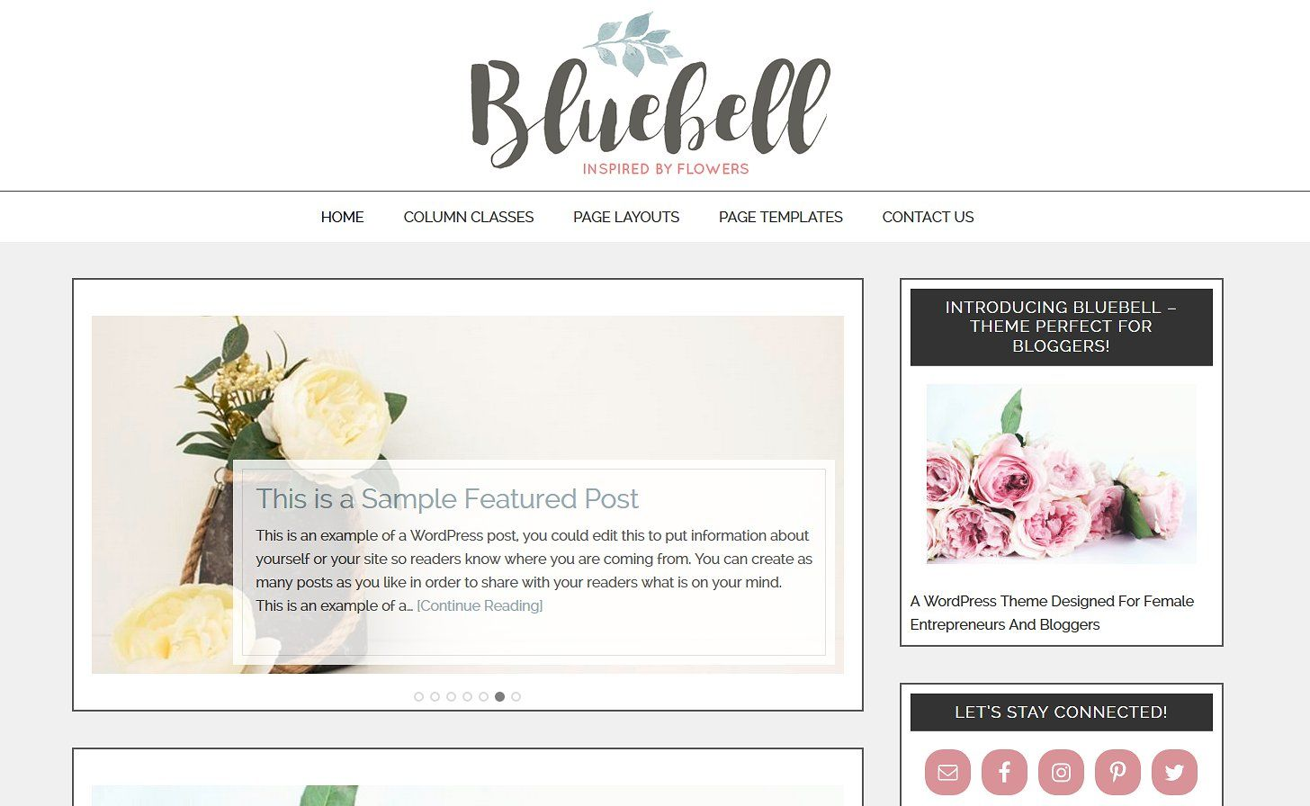 Bluebell child theme listitemdeviceincluded
