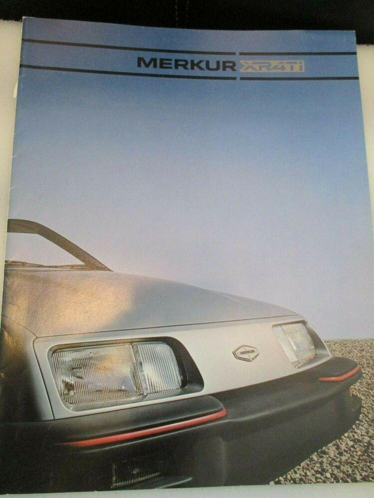 Advertisement Ebay 1985 Ford Merkur Xr4ti Dealer Brochure Pre