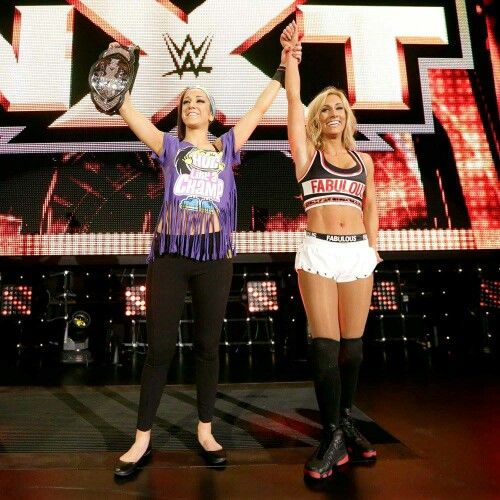Bayley With The Number 1 Contender Carmella Who Is In Line For Nxt