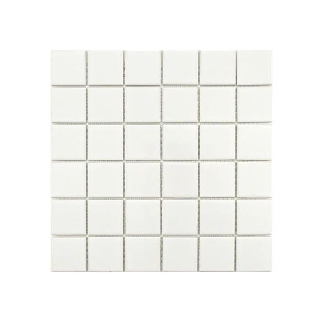 Gloss White Square Large 30cm X 30cm 4 8cm X 4 8cm Wall Floor Tiles Porcelain Mosaic Ceramic Mosaic Tile Porcelain Mosaic Tile