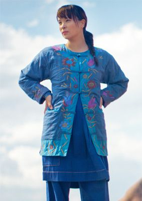 """Shanghai"" quilted cotton Chinese jacket at Gudrun Sjoden"