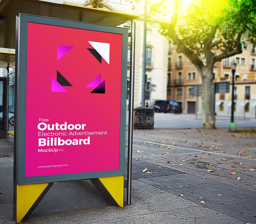 Free Outdoor Electronic Advertisement Billboard Mockup Psd Billboard Mockup Billboard Mockup