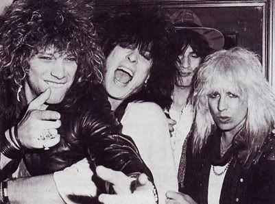 Jon Bon Jovi Nikki Sixx Tommy Lee And Vince Neil