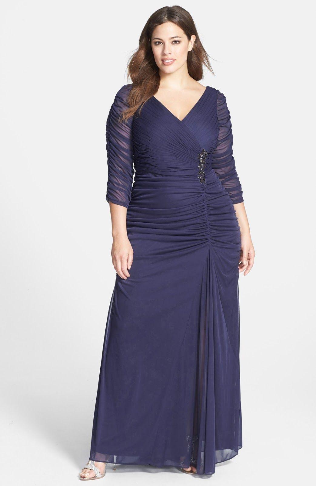 Vestidos largos de gorditas | Vestidos de día | Pinterest | Vestido ...
