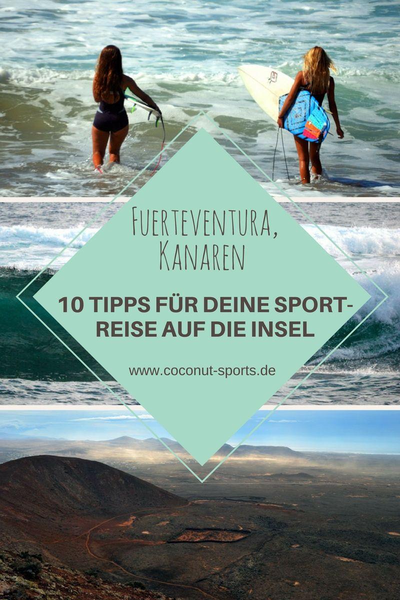 Fuerteventura für Sportler: Für alle, die im Urlaub Sport treiben möchten, ist die Kanareninsel ein Paradies. Surfen, Mountainbiken, Tauchen, Yoga und mehr.