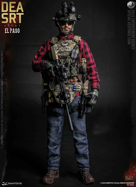 DAMTOYS DAM 78063 1//6 SCALA DEA Agente speciale del team di risposta EL PASO G4 uniforme
