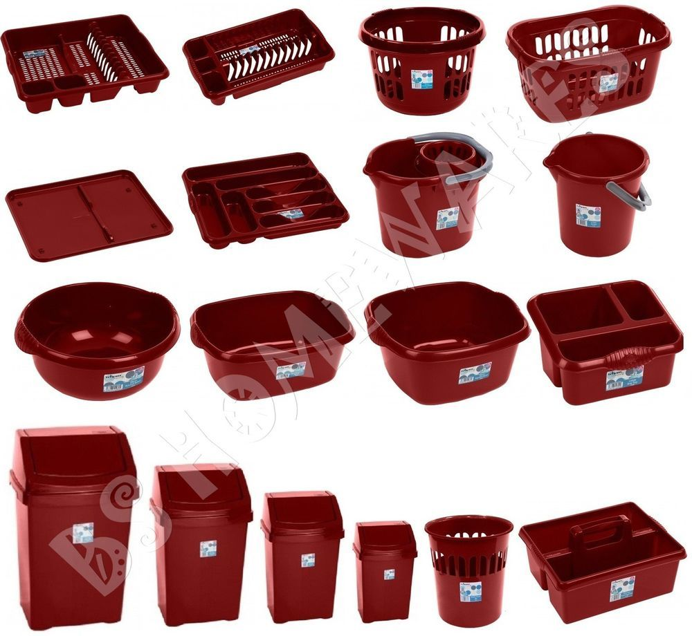 Red Kitchen Accessories Details About Red Chilli Kitchen Accessories Plastic Swing Bin