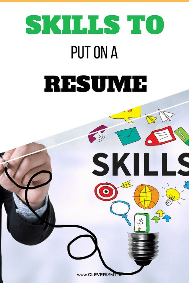 What Skills To Put On A Resume Skills To Put On A Resume Tips Tricks Best Practices  Pinterest .