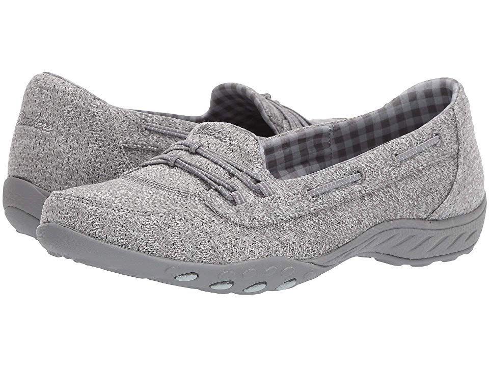 SKECHERS Breathe Easy Good Influence Women's Shoes Gray
