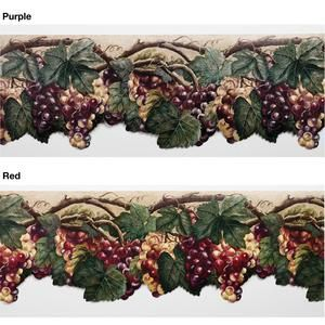 Timeless Grape Wallpaper Border Timeless This Is So Ugly I Have No Words Wine Decor