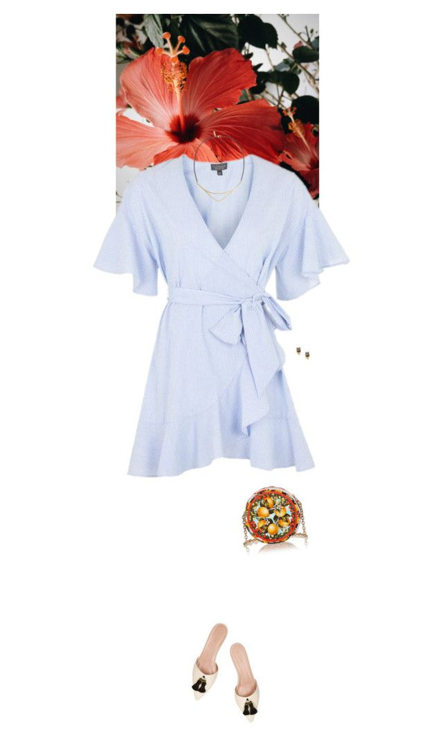 """""""Outfit of the Day"""" by wizmurphy ❤ liked on Polyvore featuring Topshop, J.Crew, Dolce&Gabbana, Erickson Beamon, K/LLER COLLECTION, ootd and loafers"""