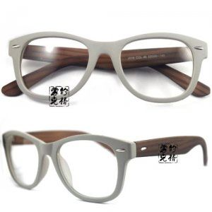 320a458eb9 Plastic Glasses Frames 019 Grey Wood-like Wayfarer With Rx Lens- if only  they weren t round.