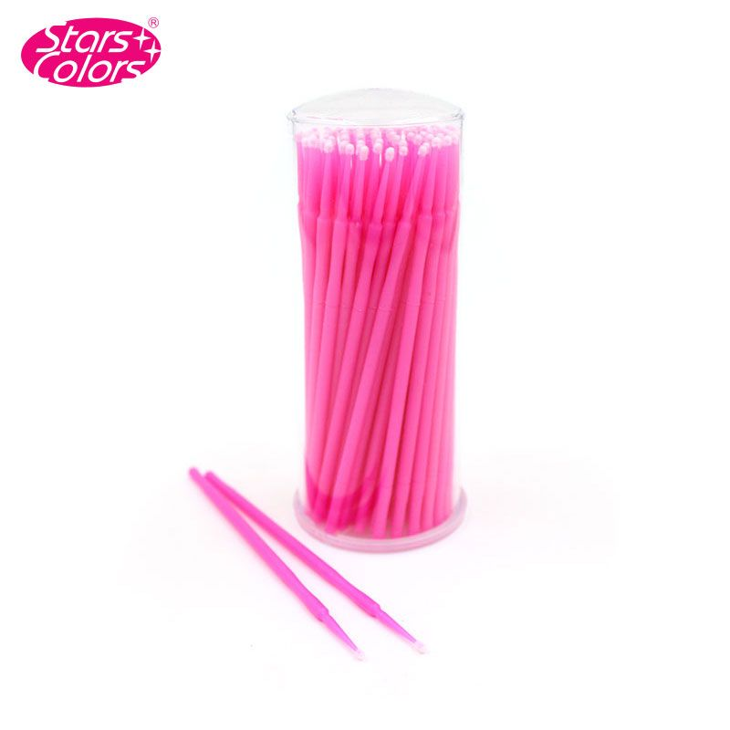 US $2.54 49% OFF|100pcs/lot Disposable Eyelash Microbrush Lint Free Cotton Swab For Eyelash Extension Cleaning Eyelashes Remover Tattoo Brushes|brush art|brush palmbrush wolf – AliExpress