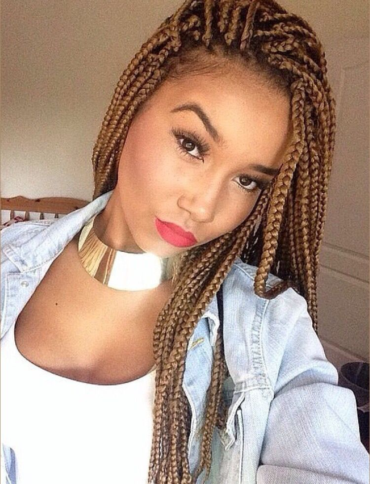 blonde box braids cheveux pinterest nattes coiffures et natte africaine. Black Bedroom Furniture Sets. Home Design Ideas