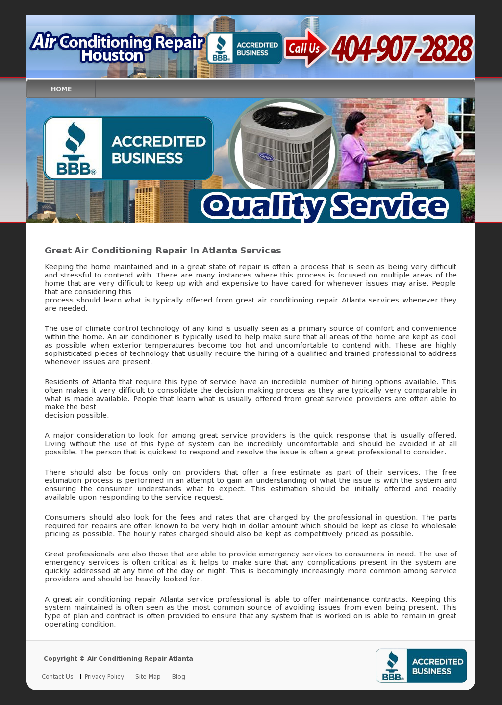 Proud to service the Atlanta area air conditioning needs