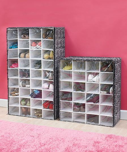 24 Or 36 Pair Zebra Animal Print Shoe Chest Shelf Bedroom Closet Storage  Rack Organizer Holder