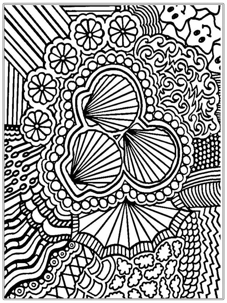 free printable adult coloring pages free adult coloring pages detailed printable art is fun - Seashell Coloring Pages Printable