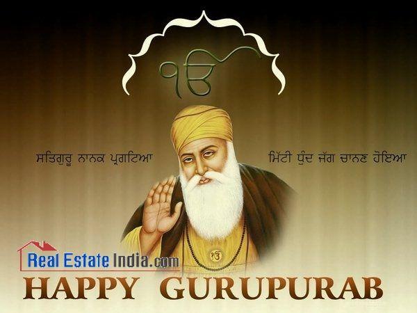 May you find happiness and peace with the blessings of #GuruNanakDev. Happy Gurunanak Jayanti - #RealEstateIndia  #GuruNanakJayanti #Gurupurab #GuruNanak #waheGuru