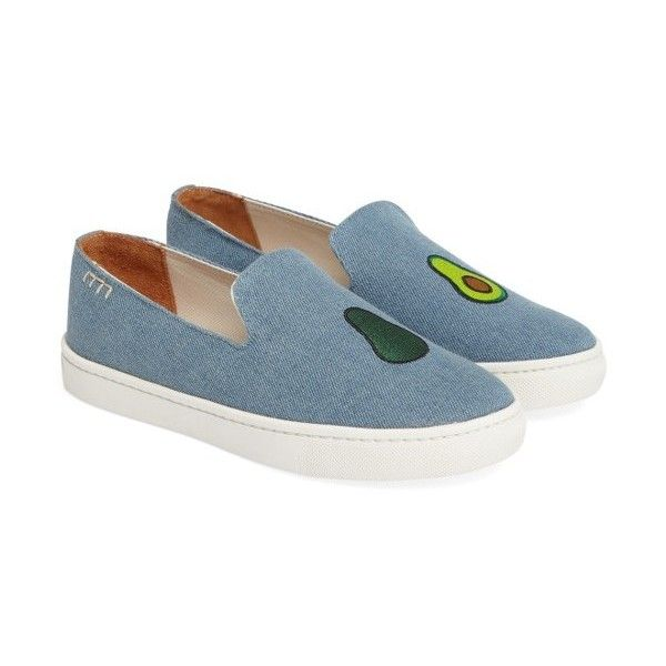 NEW Next Pumps Embroidered Flat Slip-On Trainers Denim Tiger Cat Womens Size 5