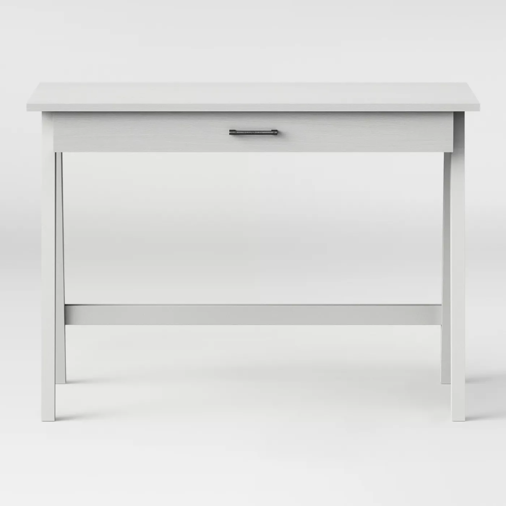 Paulo Wood Writing Desk With Drawers White Wash Project 62 In 2020 Writing Desk With Drawers Wood Writing Desk Desk With Drawers