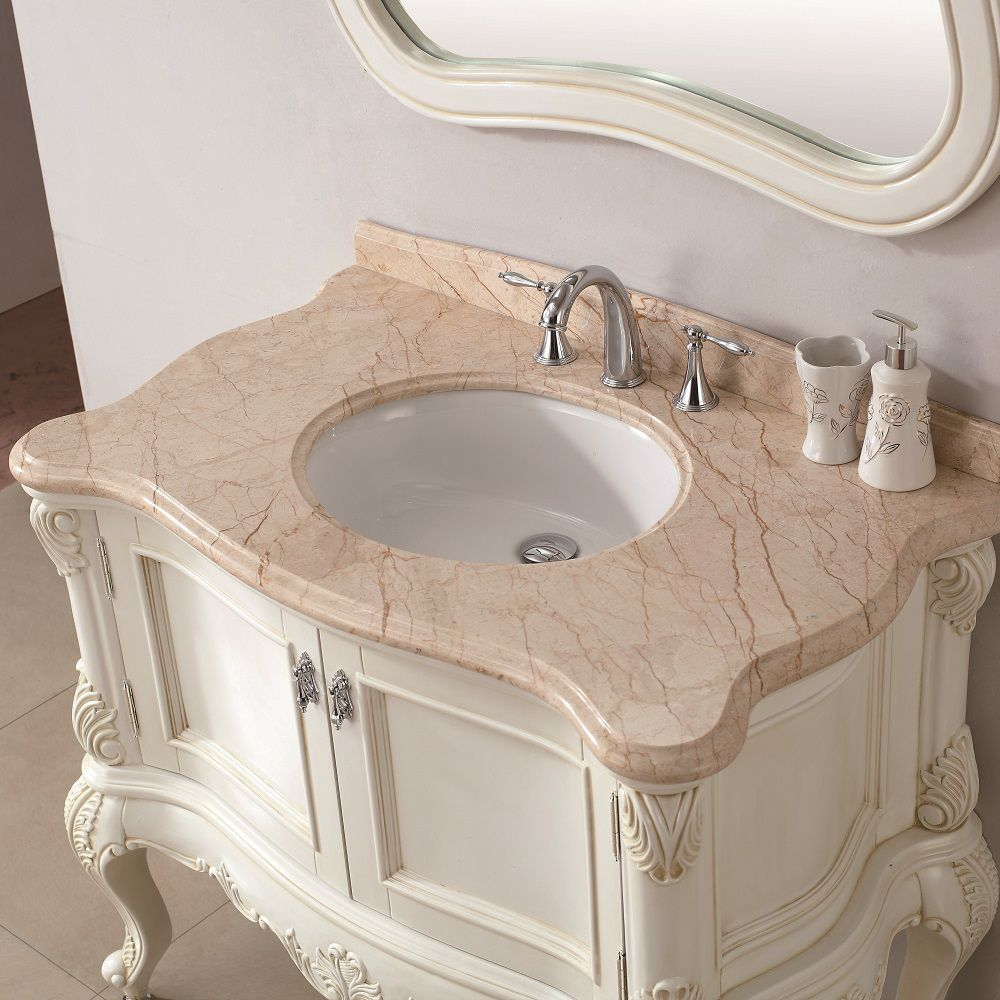 Marble 39 5 Inch Bathroom Vanity By Infurniture Bathroom